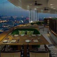 Al Dawaar, revolving restaurant & lounge - Evening Shot