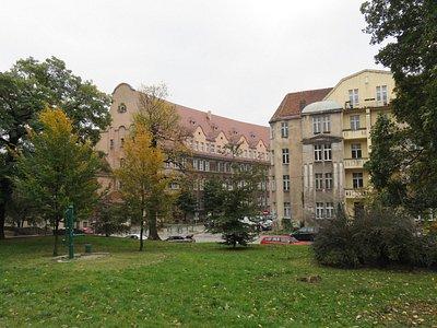 Park Drwęskich - widok na okolicę przy parku