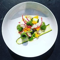 Lemon sole ceviche, citrus, chilli