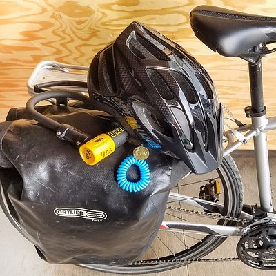 Locks, maps, and helmets included. Panniers also available for rent.