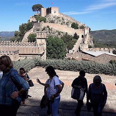 Enjoying the wonderful views of the Castle of Xàtiva surrounded by millienary walls