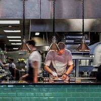 Take a peek at our open kitchen