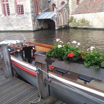 Al fin en la barca.