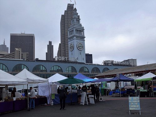 In the back lot of the Ferry Building