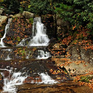 Waterfall at Bobby McLean Park in Newland.