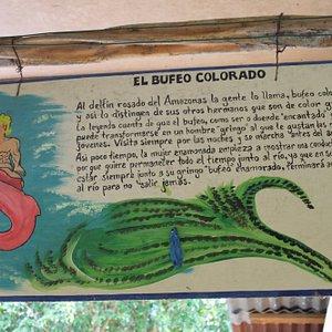 Cuadros alusivos a leyendas de la Amazonía.