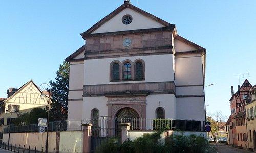 Façade avant de la Synagogue de Colmar