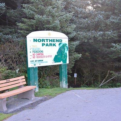 park entrance just across the Near Island bridge