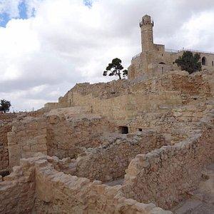 Tomb of Samuel from below.