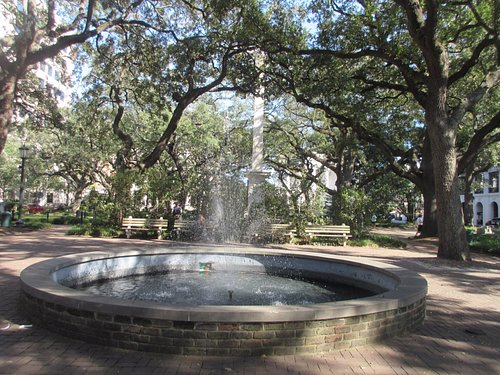 Water fountain in the Square