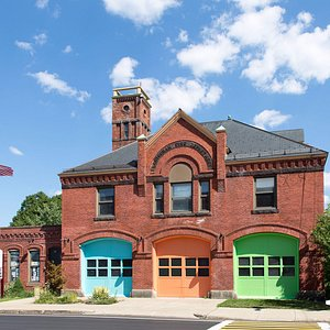 Amazing Things Art Center is in a renovated firehouse