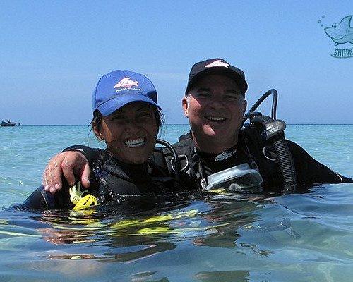 Iain and Oui, owners of Sharkey Scuba Dive Center in Karon, Phuket