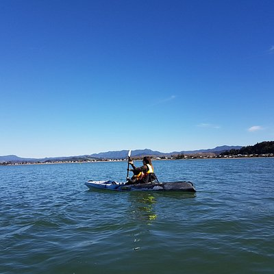 Kayaking the stunning coastline of brophys beach whitianga. A real family adventure.