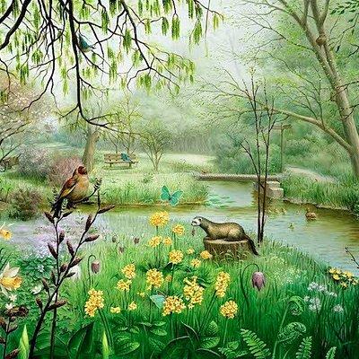 Thijssepark in het voorjaar