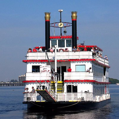 The Capt. JP is a triple deck paddle wheeler cruising in Southwest Florida!