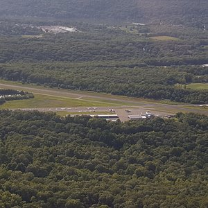 View of the airport on the downwind leg