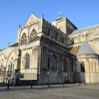 Romsey Abbey, Romsey, Hampshire. Dating from c907. Open daily. Services daily. Visitors welcome.