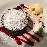 Deser - czekoladowa lawa