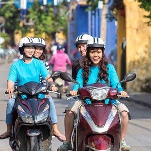 XO girls driving in Hoi An