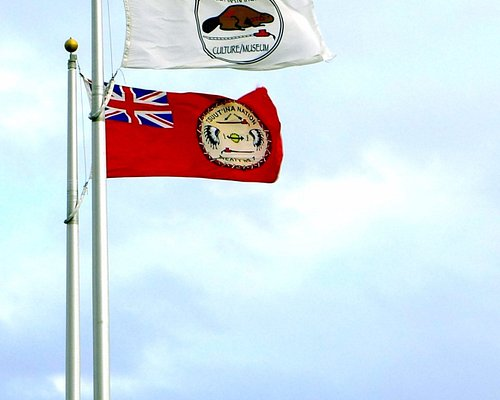 Tsuu T'ina Nation flag and Museum Flag