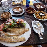 the Tapas feast and my Sea Bass