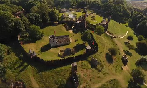 Aerial photo of mountfitchet castle