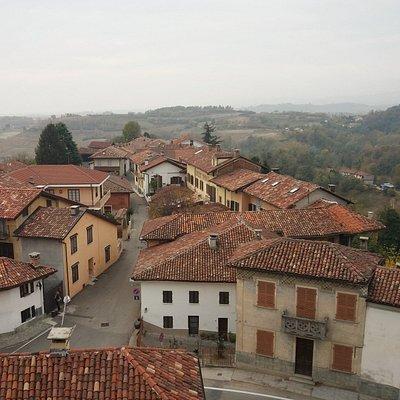 Il panorama dal castello