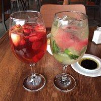 Sangria (left) Soda Sandia (right)