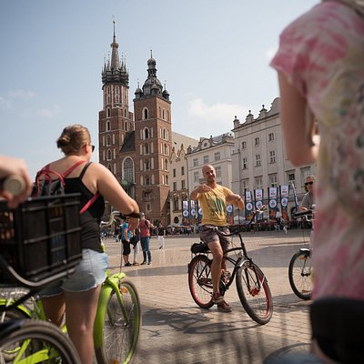 It is fun to cycle in Krakow