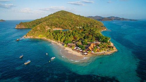 Overview of Castaway Island, Fiji private Island Resort