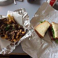 blt and bulgogi fries