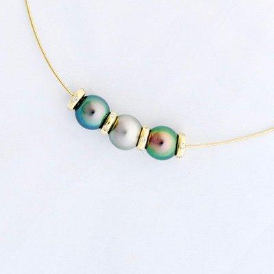 Tahitian Pearls, 18kt Gold, Diamonds