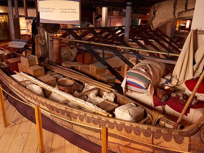 The North Canoe - A traditional voyageur canoe