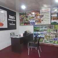 inside of my travel counter