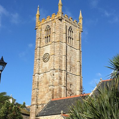 The Tower of the Church is a landmark overlooking the lovely harbour. The interior is very fine