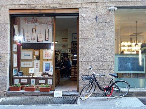 Outside art shop
