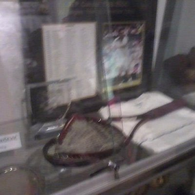 One of Goran Ivanisevic's rackets