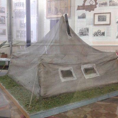 Палатка основателей завода.