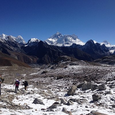 Everest as it was seen during Gokyo Renjola Pass Everest trekking
