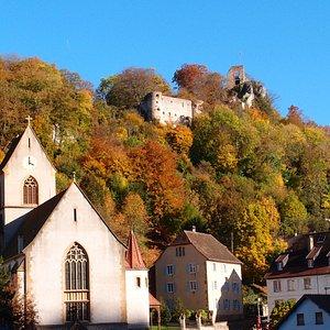 Eglise Saint Bernard de Menthon au pied du château de Ferrette