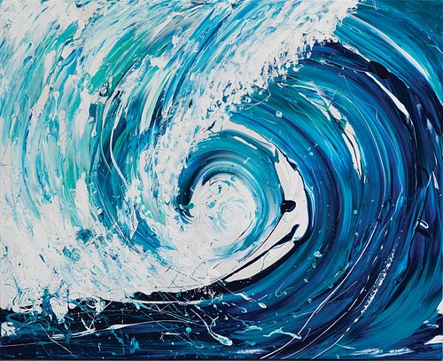 The Ocean inspired 'Wave Series'.  Exhibiting original contemporary artworks by Annette Spinks