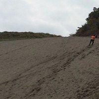 砂山の斜面