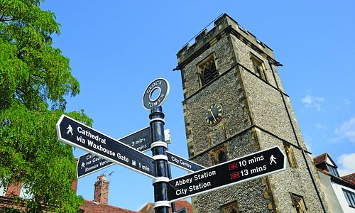 The Clock Tower is right in the main shopping area, a short walk from the Cathedral
