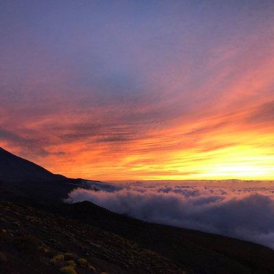 Mar de nubes, el Teide desde Izaña