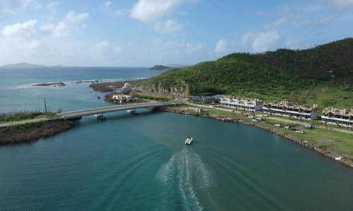 Queen Elizabeth II Bridge (joining Beef Island to Tortola) in Tortola  photo by Alton Bertie