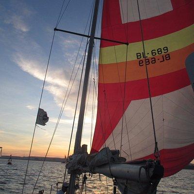 Velejada do Pôr do Sol! Sunset Sailing!