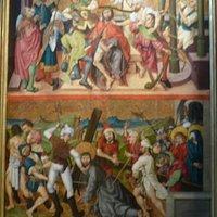 Vue de face droite Couronnement d'épines et portement de la croix