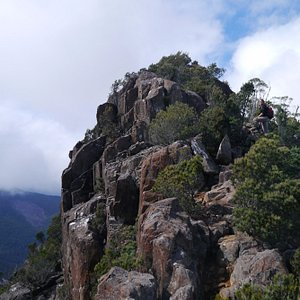 The summit of Cathedral Rock