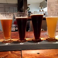 Start off with a flight of beers after a tour of the brewery!