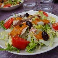De salades zijn uitstekend